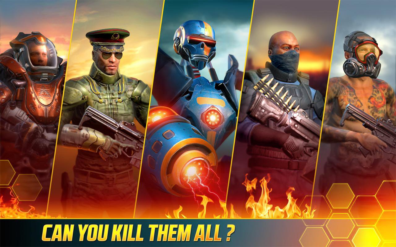 kill shot bravo unlimited money and gold mod apk