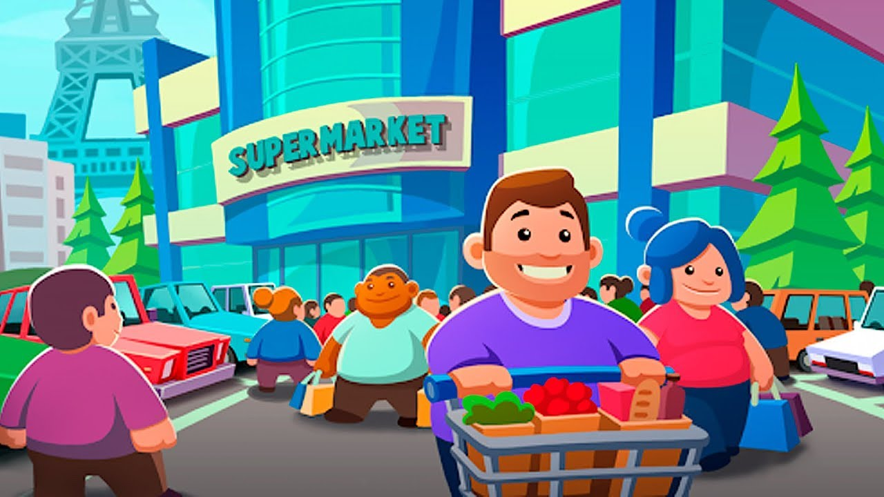 Idle Supermarket Tycoon hacked version