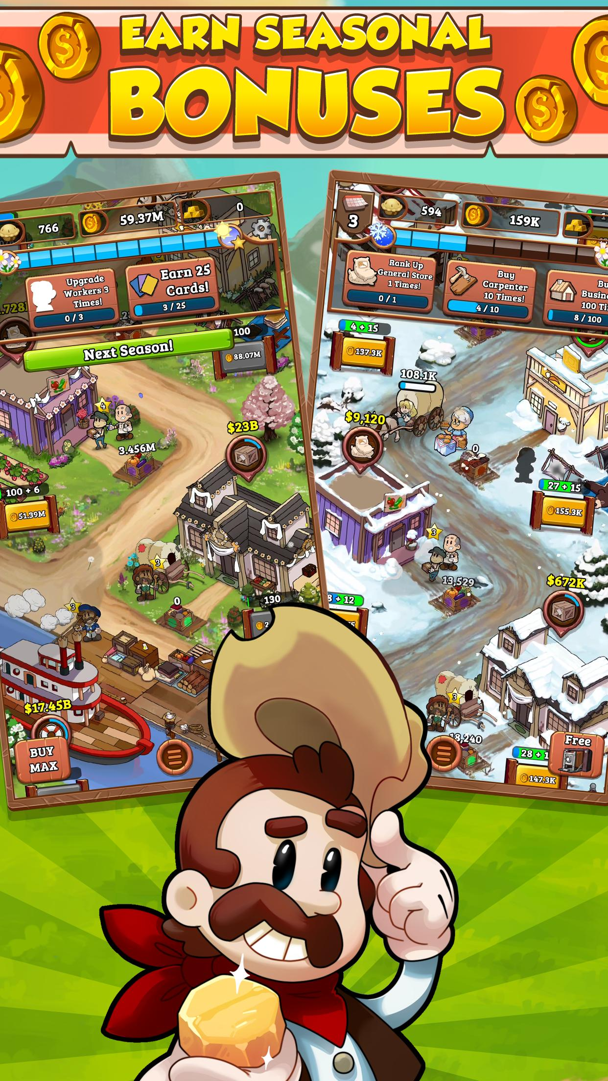 idle frontier tap town tycoon 4